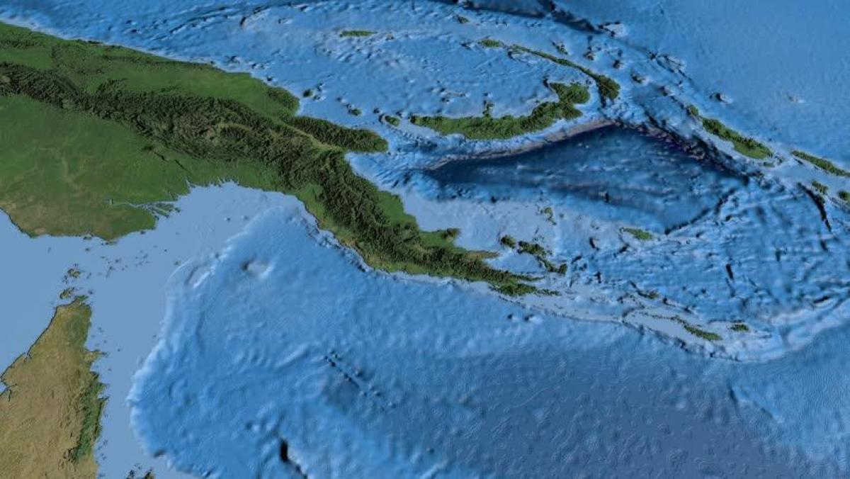 Satelliitti Kartta Papua Uusi Guinea Nayta Kartta Satelliitti