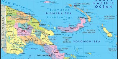 Papua Uusi Guinea Kartta Kartat Papua Uusi Guinea Melanesia